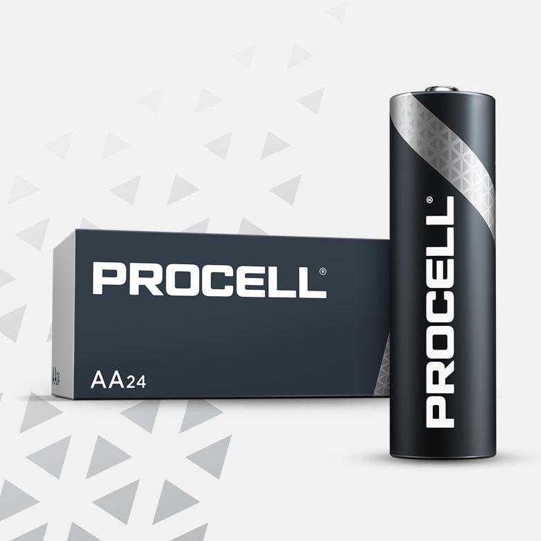 Procell Alkaline AA, 1.5v Batteries