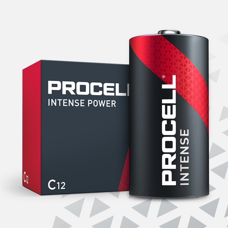 Procell Alkaline Intense Power C, 1.5v Batteries