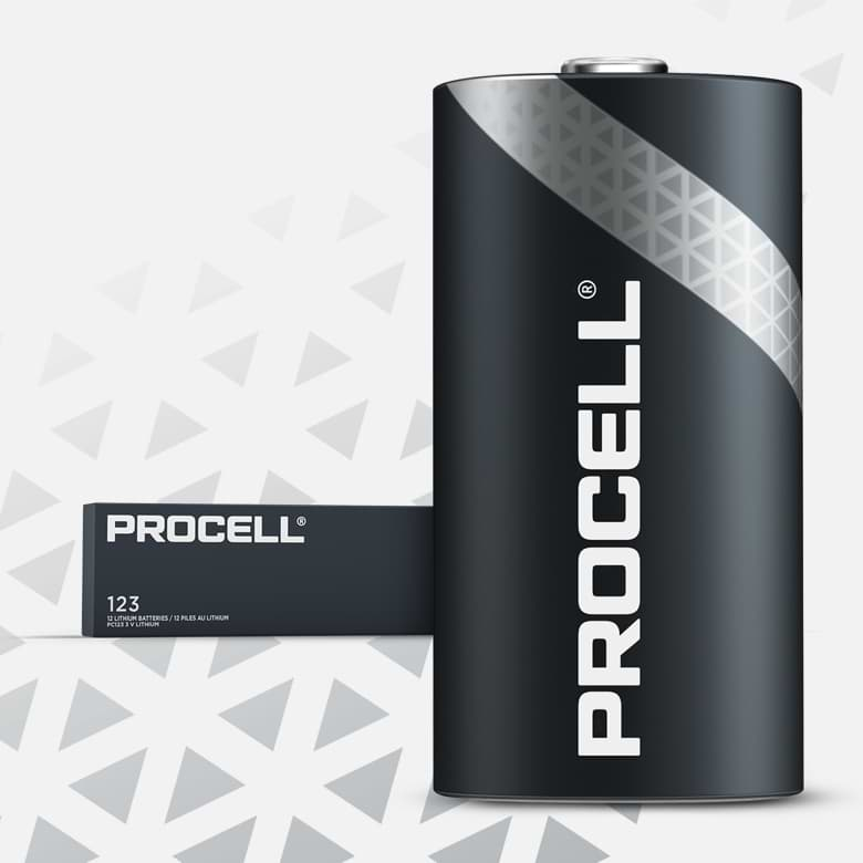Procell High Power Lithium 123, 3v Batteries