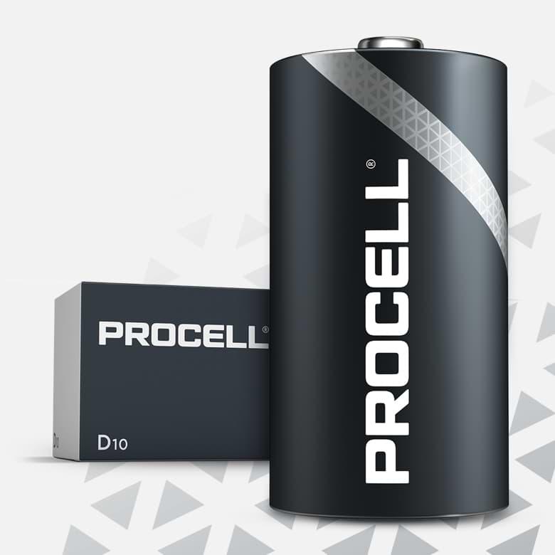 Procell Alkaline D, 1.5v Batteries