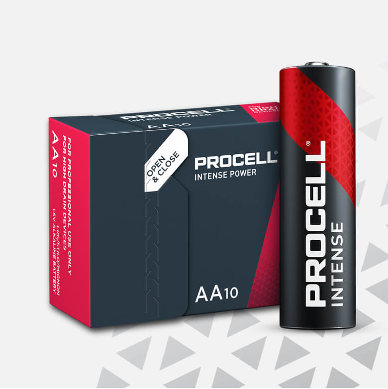 Procell Alkaline Intense Power AA, 1.5v Batteries
