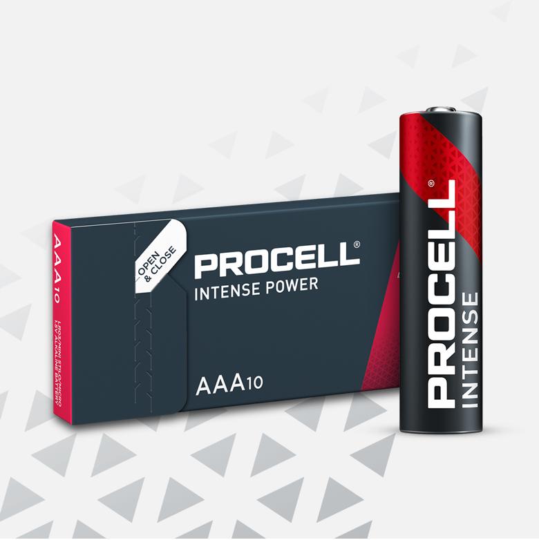 Procell Alkaline Intense AAA, 10 Pack Batteries