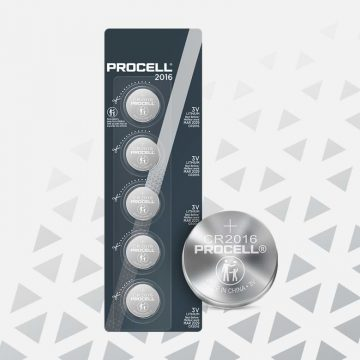 Procell Lithium Coin CR2016, 3v Batteries