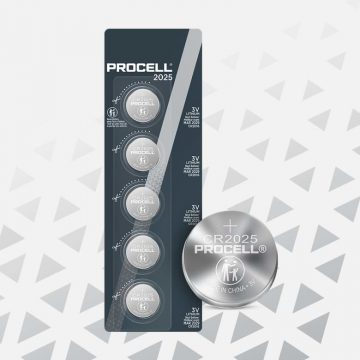 Procell Lithium Coin CR2025, 3v Batteries